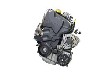 Car engine isolated on white background