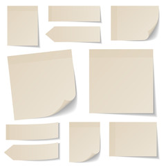 Stick Notes Collection Beige