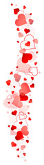Red Hearts Banner Vertical