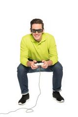 Junger Mann Gamer Spieler 2