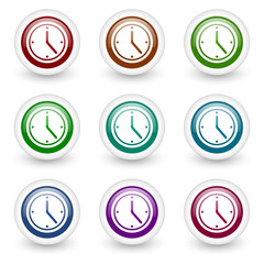 time web icons vector set