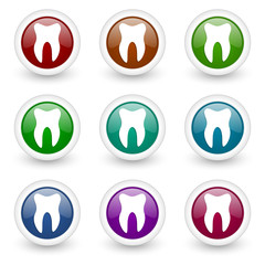 tooth web icons vector set