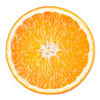 Orange slice isolated on white background - 77068470