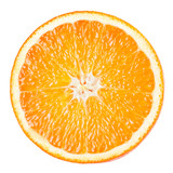 Orange slice isolated on white background