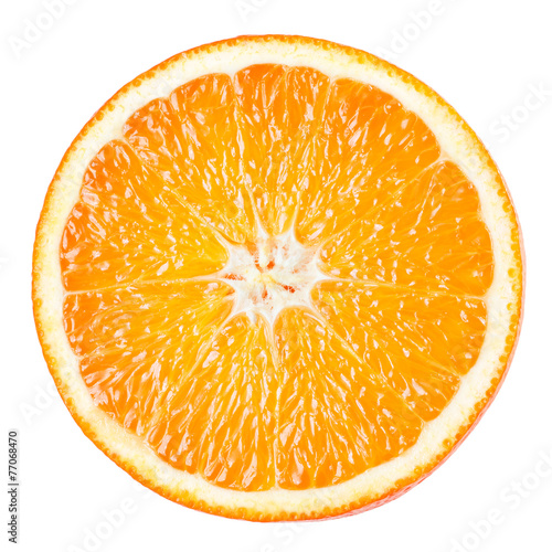 Staande foto Vruchten Orange slice isolated on white background