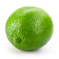 Lime fruit on a white background.