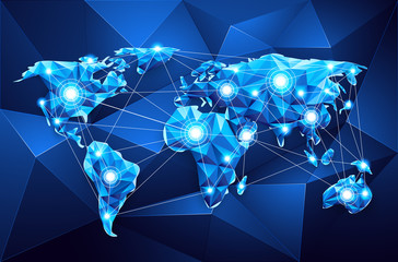 World map. Global Network