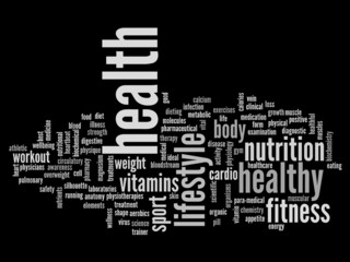 Conceptual health word cloud