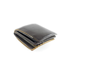 Brown wallet isolated on white