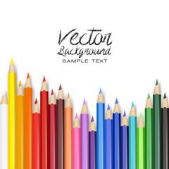 pencil color shape vector