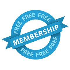 """""""Free Membership"""" stamp (vector sign up now register)"""