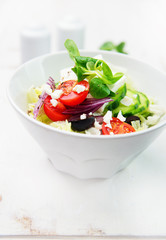 Salad with feta and olives