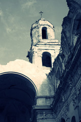 Ruins of church destroyed by earthquake