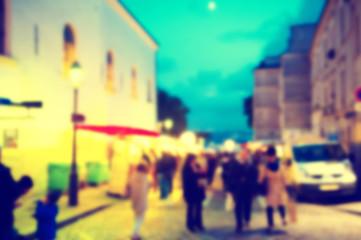 France blur background