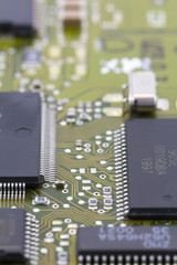 Microchips in a motherboard