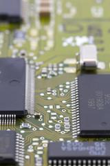 Microchips in a motherboard