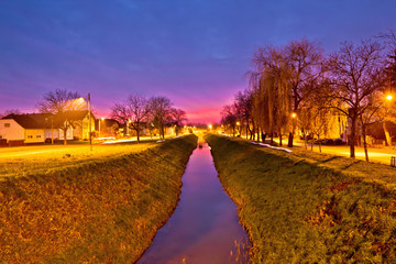 Koprivnica creek on colorful dusk