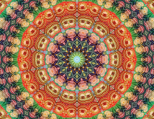 Yoga meditation mandala