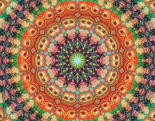 Yoga meditation mandala - 77073032