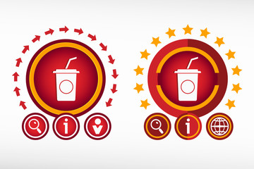 Soft drink icon on creative background