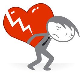 Amour - poids sur le coeur