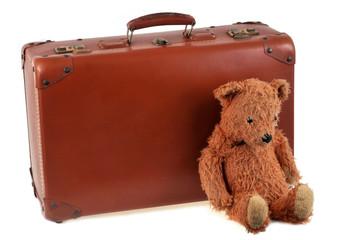 La valise et l'ours en peluche