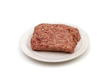 forcemeat on the white background