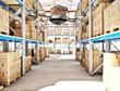Leinwanddruck Bild - futuristic warehouse