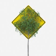 Segnale stradale USA con indicazione vegetazione