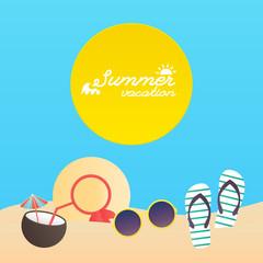 Summer poster. Vector