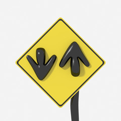 Segnale stradale USA con indicazione doppio senso di marcia