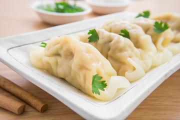 Dumplings on plate