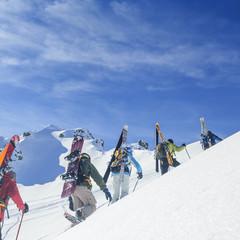 kombinierte Tour mit Schneeschuhen und Skiern