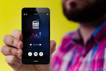 Hipster blog smartphone