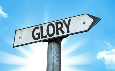 Glory sign with a beautiful day