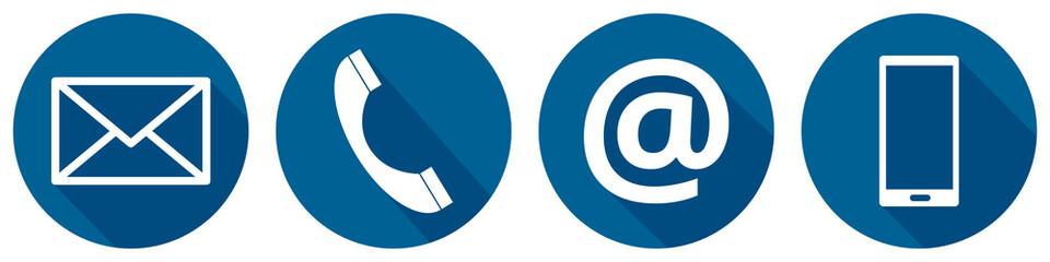 Kontakt Icons dunkelblau