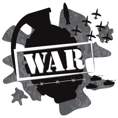 war grenade design illustration vector