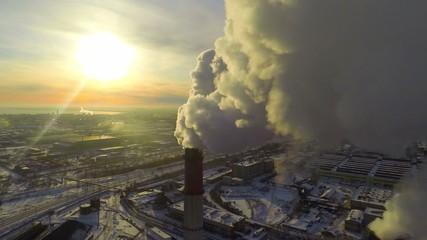 Global Warming. Aerial.