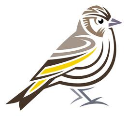 Stylized Bird - Pine Siskin