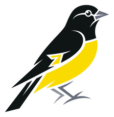 Stylized Bird - Yellow-bellied Siskin