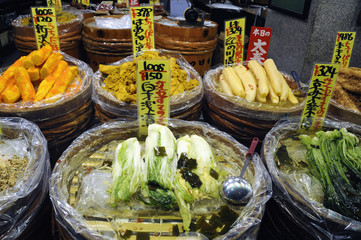 Traditional market in Japan