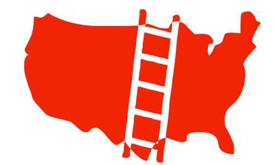 Mappa USA con indicazione scala