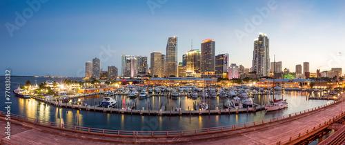 Foto op Aluminium New York Miami city skyline panorama at twilight