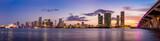Fototapety Miami city skyline panorama at twilight