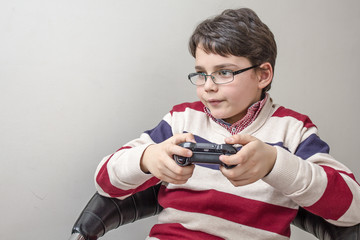 Child with a game controller
