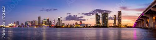 Miami city skyline panorama at twilight Photo by f11photo