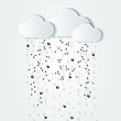 abstract cloud computing black and white illustration