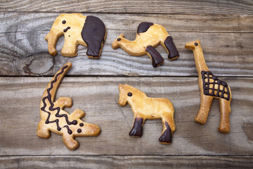 Cookies shaped like animals