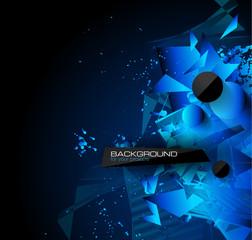 Abstract modern poligonal background for brochure