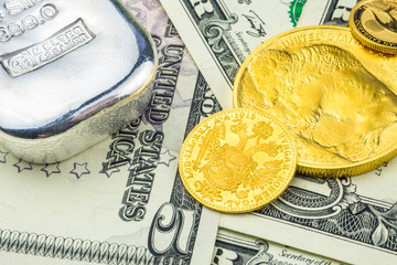 american dollar backed by gold and silver